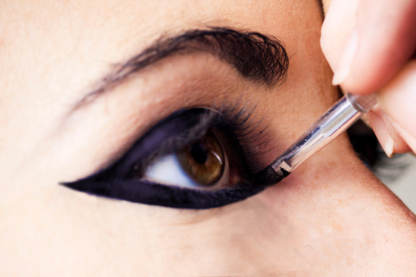 Winged liner has added a sexy feline vibe to spring 2012 fashion