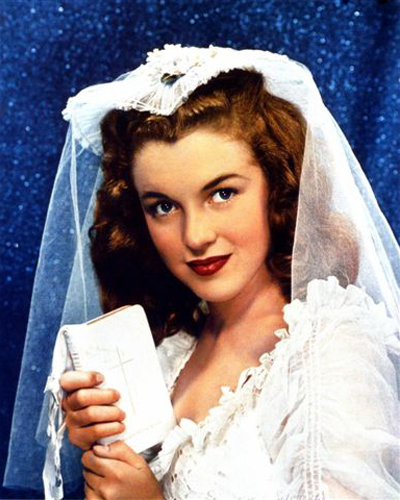 Norma Jeane Dougherty (Age 16) Posing In Her Own Wedding Dress