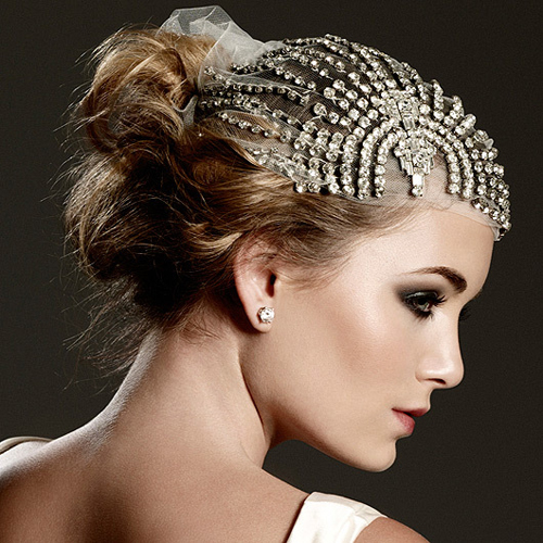Art Deco Crystal Headpiece from Johanna Johnson