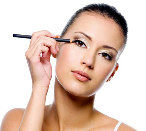 Apply eyeliner as close to the lash line as possible, and place it between each and every eyelash.